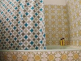 バスルームの柄の写真・画像素材[3109264]