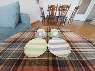 リビングルームのテーブルの写真・画像素材[3124784]