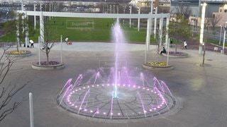 公園,屋外,光,噴水,遊び場,景観