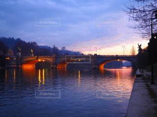 イタリアトリノの夕焼けの写真・画像素材[3342077]