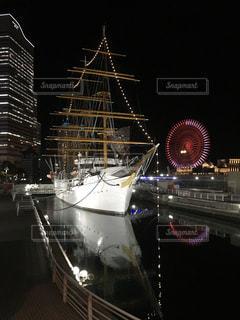 夜,船,横浜市みなとみらい