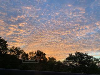 空,雲,朝焼け