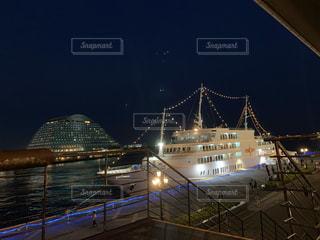 夜景,屋外,船,神戸