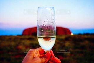 風景,空,ワイン,ドリンク,アルコール,#旅行,#旅,#シャンパン,#絶景,#逆さま,#ウルル,#エアーズロック,#発見