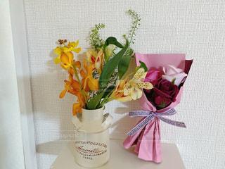 花,屋内,花束,花瓶,バラ,食器,ブーケ,草木,キッチンブーケ