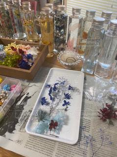 花,花瓶,ガラス,プレゼント,癒し,garden,beautiful,flowers,香り,natural,ボタニカル,ハーバリウム,blues