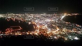 風景,空,夜,夜景,屋外,花火,観光,都会,高層ビル,明るい,函館,人気
