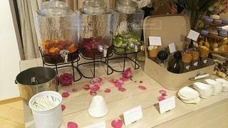 花,屋内,花瓶,テーブル,ドリンク,デトックスウォーター