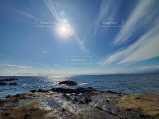 自然,風景,海,空,屋外,太陽,海岸,江ノ島,日中