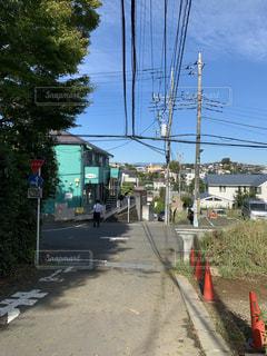 道の端に駐車してバスの写真・画像素材[1503367]