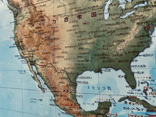 旅行,アメリカ合衆国,地図,メキシコ,地球儀,世界地図,宝探し,フォトジェニック,インスタ映え