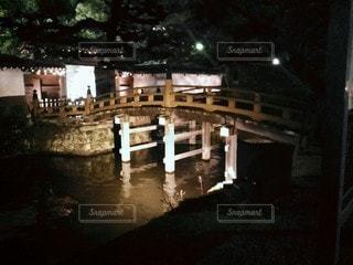 夜の橋の写真・画像素材[3056881]