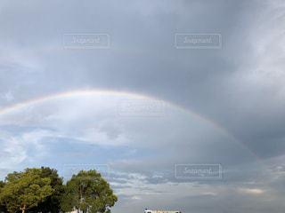 自然,風景,空,木,屋外,雲,きれい,綺麗,虹,レインボー,景色,くもり,景観,キレイ