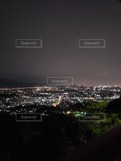 夜景,ドライブ,高台
