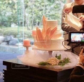 花,結婚式,ケーキ入刀