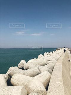自然,海,空,屋外,砂,ビーチ,雲,水面,海岸,クラウド,テトラポット