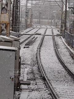 雪,綺麗,線路,真っ白