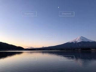 自然,風景,空,富士山,湖,水面,山,景色,朝焼け,山梨