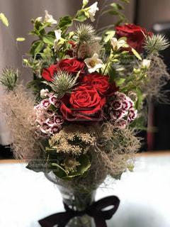 花,屋内,花瓶,バラ