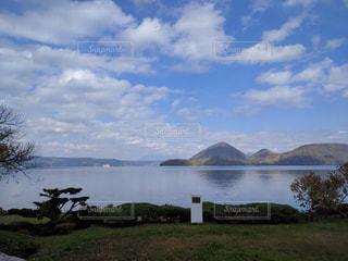 自然,風景,空,屋外,湖,水面,洞爺湖