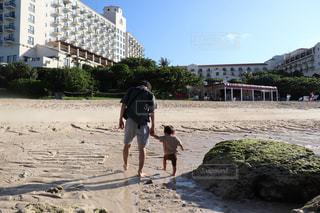 子ども,家族,2人,自然,風景,空,屋外,ビーチ,親子,海岸,人,パパ,子育て