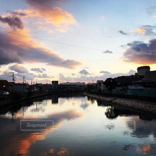 元旦の夕暮れの写真・画像素材[3032865]