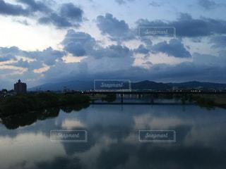 風景,空,雲,水面,山