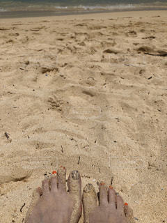 女性,自然,砂,ビーチ,砂浜,海岸,土,ハワイ,フットネイル