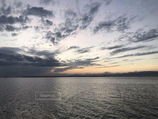 自然,風景,空,湖,雲,夕暮れ,水面