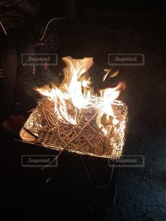 夜,キャンプ,炎,火,焚き火