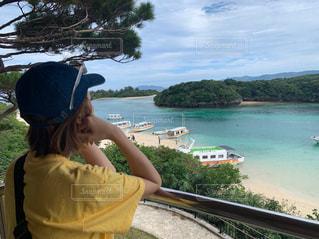 女性,1人,海,ビーチ,沖縄,旅行,石垣島,川平湾