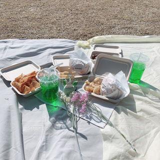 食べ物,自然,春,ランチ,屋外,白,ピクニック,お洒落