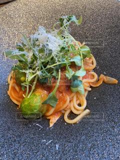 食べ物,カフェ,ランチ,フード,野菜,パスタ,昼食,料理,外食,ナポリタン,スパゲティ,スパゲッティ,生パスタ,おしゃれ,芽キャベツ