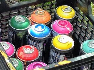 カラフル,たくさん,色,仲間,多く,多種多様,スプレー缶