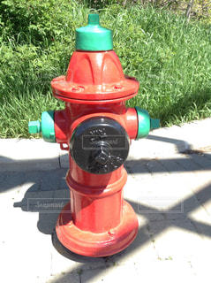 屋外,赤,火,地面,景観,消火栓,ユニーク,縁石
