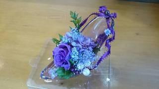 花,靴,フラワー,紫,贈り物,手作り,ブリザードフラワー,母の日,飾り