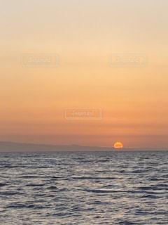 風景,海,空,太陽,ビーチ,夕暮れ,海岸,無加工