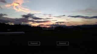 雲,夕暮れ,日の入り,高台,一日の終わり