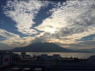 風景,空,屋外,湖,雲,夕暮れ,水面,山