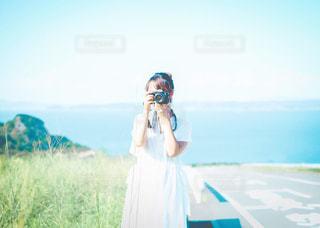 青と彼女の写真・画像素材[3121985]