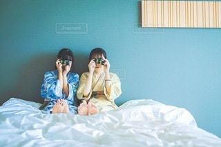 ホテルで写ルンですの写真・画像素材[3383152]