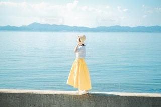 夏の青の写真・画像素材[3438165]