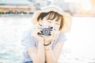 笑顔と夏の写真・画像素材[3617555]