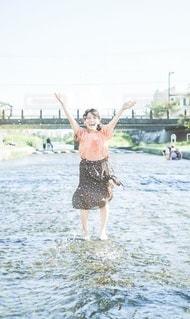川遊びの写真・画像素材[3633617]