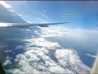 空,雲,飛行機