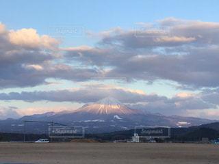 自然,風景,空,雲,夕暮れ,幻想的,山,大山
