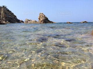自然,風景,海,空,ビーチ,透明,水面,海岸,岩,キレイ,澄んでる