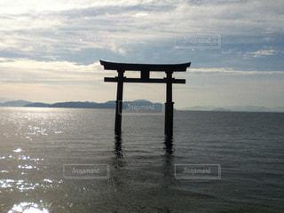 風景,空,湖,鳥居,水面,景色,神秘的,眺め