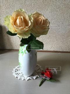 花,花瓶,黄色,バラ,鮮やか,キレイ