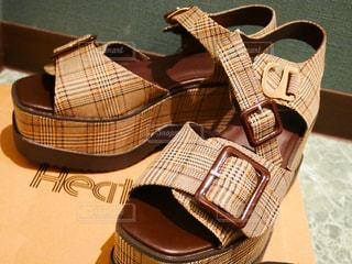 夏,靴,サンダル,茶色,新しい,シューズ,ミューズ
